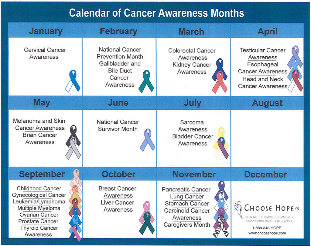 Cancer Awareness Calendar