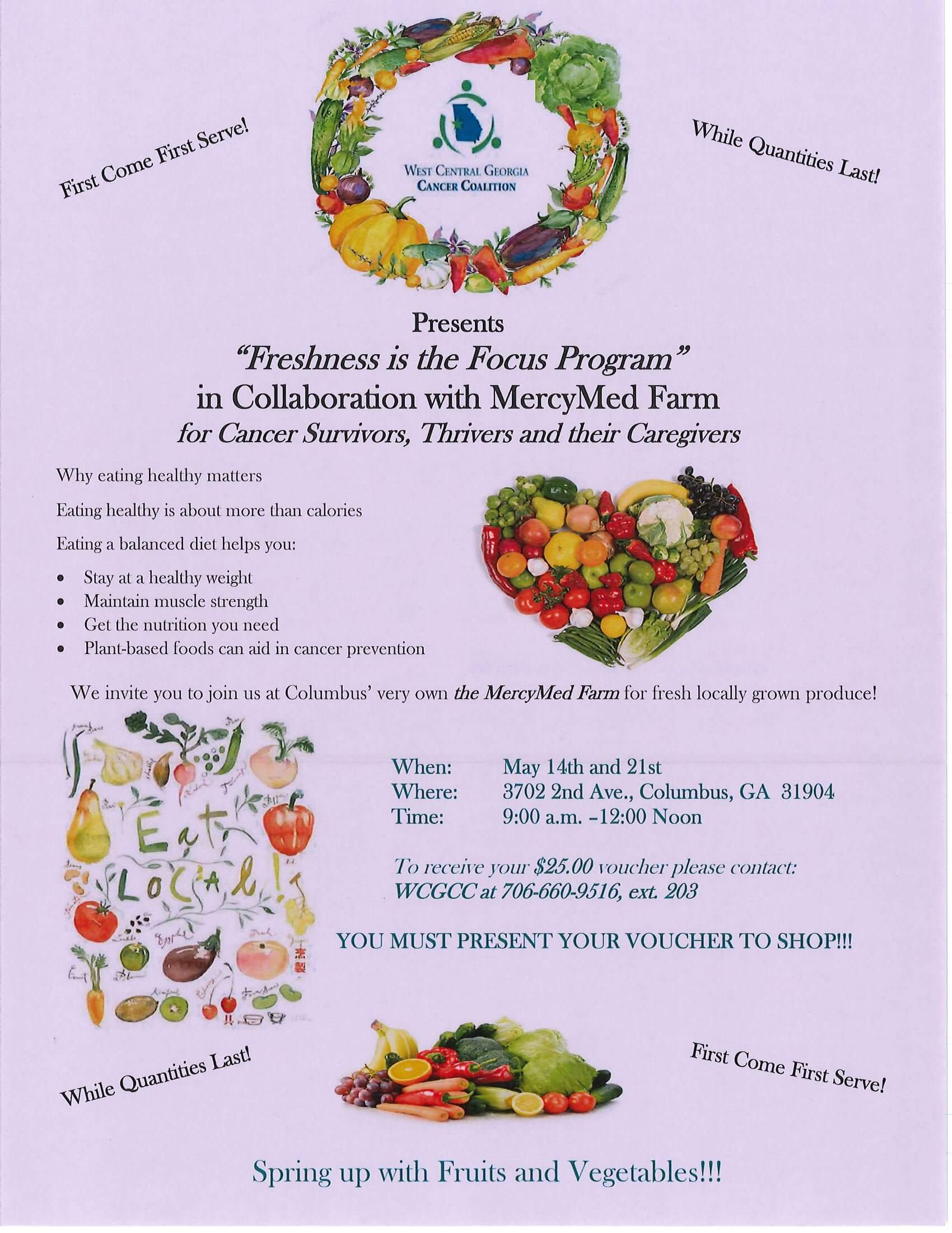 Learn about healthy eating with WCGCC and MercyMed Farm